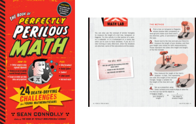 Perfectly Perilous Math book cover and interior page spread